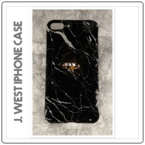 J. West iPhone 7/8 Plus Marble Silicone Case